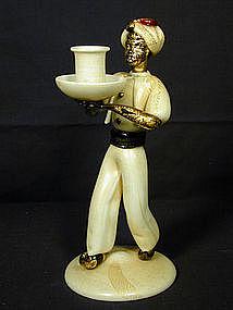 A.VE.M. Murano Blackamoor Candle Holder