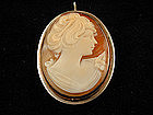 Victorian Cameo Pin/Pendant in Sterling Frame