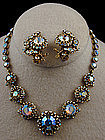 Hollycraft Aurora Borealis Necklace and Earring Set