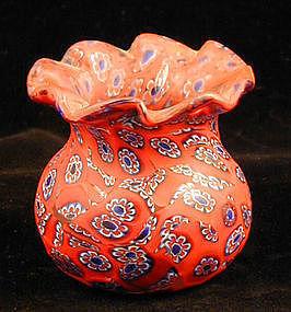 Miniature Millefiore Vase Fratelli Toso Murano