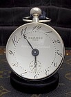 Hermes Paris Crystal and Stainless Boule Clock