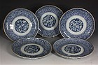 SET OF FIVE JAPANESE ARITA DISHES 18thC