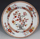CHINESE FAMILLE ROSE PLATE C1720/30
