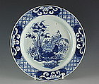 Bow Blue and White Plate C1760/5