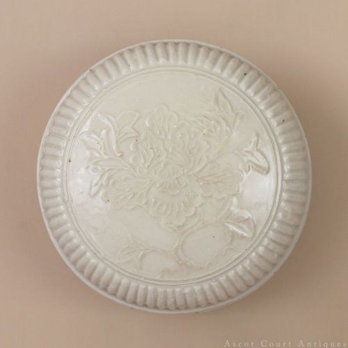 16TH 17TH C MING DEHUA BLANC DE CHINE WHITE GLAZED PORCELAIN BOX