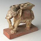 16th Century, Indian Standstone Walking Elephant