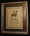 A RARE KING RAMA V Antique Print, GRAND Size