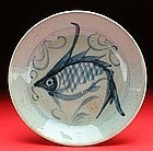 Porcelain Blue and White Minyao Fish Plate