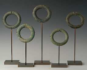 Dong Son Bronze Bangle with Decorative Lines