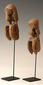 A Pair of Burmese Weaving Tools in The Form of Bird
