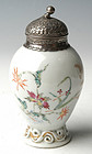 A Chinese Export Colored Porcelain Tea Caddy