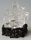 A Chinese Rock Crystal Carving of a Male Figure