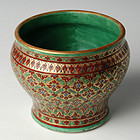 Rattanakosin Porcelain Spittoon with Namtong Design