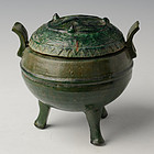 Han Dynasty, Chinese Pottery Incense Burner