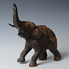 19th C., Burmese Wooden Walking Elephant