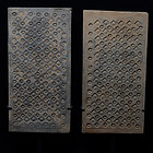 A Pair of Han Pottery Panels with Designs
