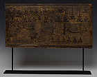 Burmese Wooden Panel with Angel Design