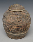 Han Dynasty, Chinese Painted Pottery Globular