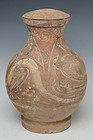 Han Dynasty, Chinese Painted Pottery Jar