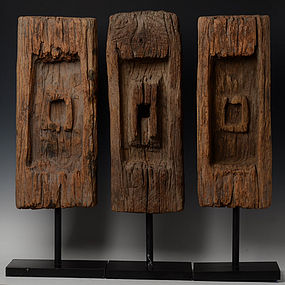 19th Century, Thai Wooden Fence Decoration