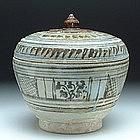 An Underglaze Black Sukhothai Covered Bowl