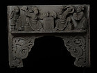Ming Chinese Sandstone Panel Decoration