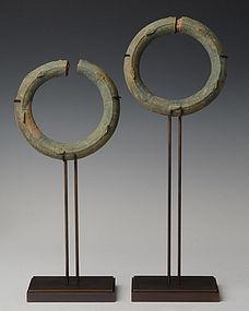 A Pair of Khmer Bronze Bracelets