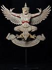 Thai Wooden Standing Garuda