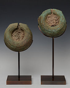 500 B.C., A Pair of Dong Son Bronze Bangles