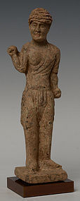 Tang Dynasty, Rare Chinese Pottery Foreigner Figure