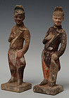 Tang Dynasty, Chinese Pottery Figure of Courtman