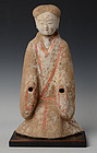 Han Dynasty, Chinese Pottery Figure of Lady
