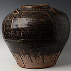 15th Century, Burmese Brown Glazed Jar