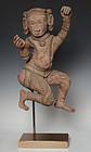 18th Century, Burmese Wooden Standing Uma