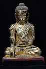 Early 19th Century, Burmese Paper Mache' Seated Buddha
