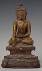15th-16th Century, Ava, Burmese Bronze Sitting Buddha