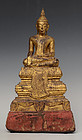 17th Century, Ayuthaya, Thai Wooden Seated Buddha