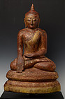 16th-17th C., Burmese Alabaster Seated Buddha