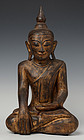 18th Century, Shan, Burmese Wooden Seated Buddha