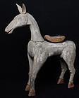 19th Century, Burmese Wooden Standing Horse