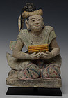 17th Century, Shan, Burmese Soapstone Seated Figure