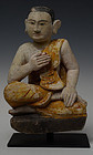 17th Century, Shan, Burmese Soapstone Seated Disciple