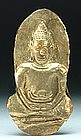 A Khmer Gold Buddha Votive Amulet