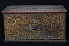 19th C., Mandalay, Burmese Wooden Chest