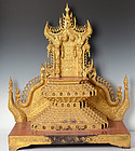 19th Century, Miniature Burmese Wooden Buddha's Throne
