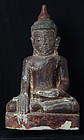 15th - 16th C., Ava, Large Burmese Sandstone Seated Buddha