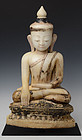Early 16th C., Burmese Alabaster Seated Buddha