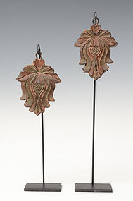 19th Century, A Pair of Khmer Wooden Textile Tools