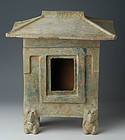 Han Dynasty, Chinese Green Glazed Pottery Pavilion with Oxford Test