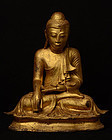Early 19th C., Early Mandalay, Burmese Bronze Seated Buddha